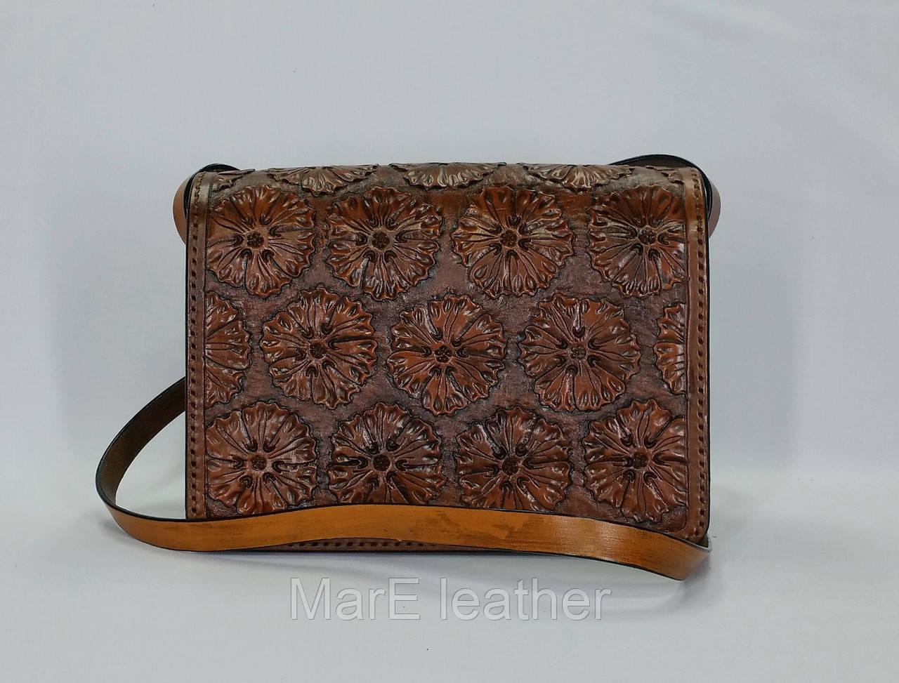 3b05bc8aff09 Женская сумочка ручной работы с тисненым рисунком (15.5 х 22 х 10.5 см) -