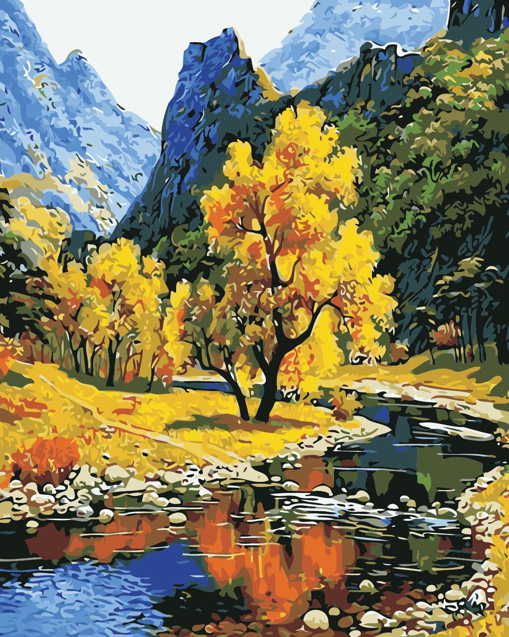 Художественный творческий набор, картина по номерам Осень в горах, 40x50 см, «Art Story» (AS0384)