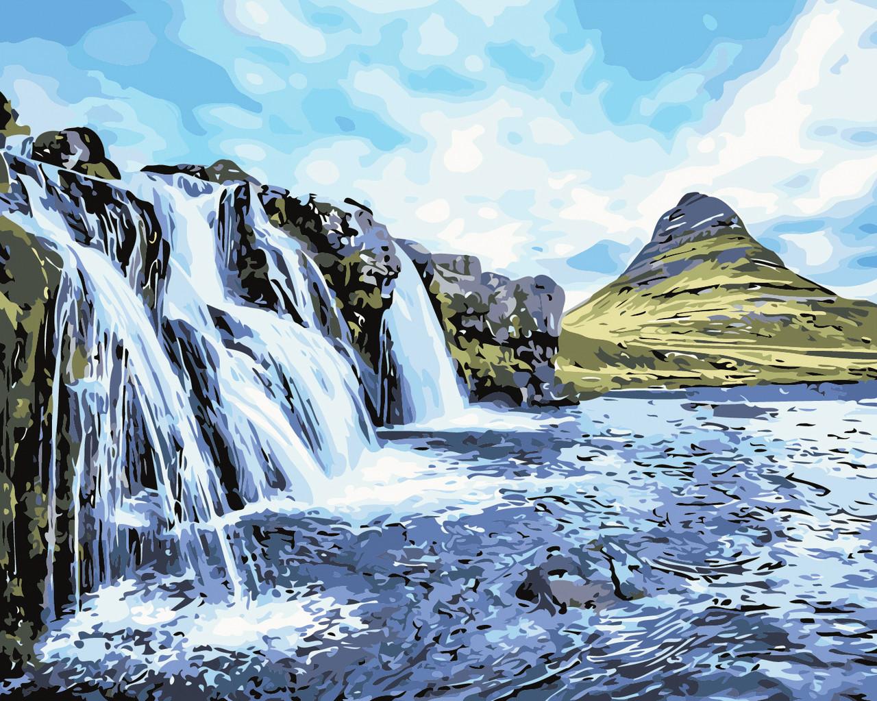 Художественный творческий набор, картина по номерам Водопады, 50x40 см, «Art Story» (AS0387)