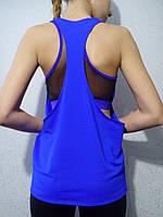 Спортивная майка-разлетайка синяя, фото 1
