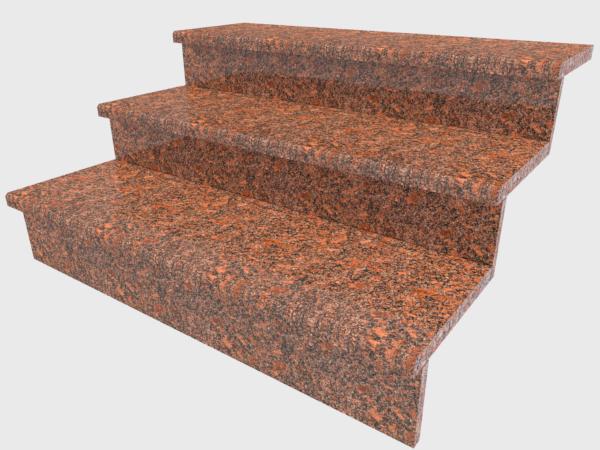 Ступени гранитные  полированные  Новоданиловские  1000×300×30