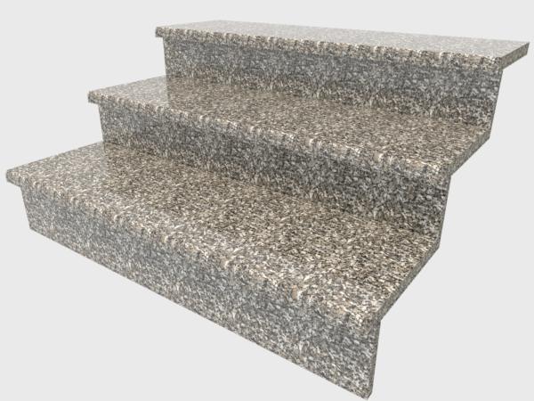 Ступени гранитные  полированные  Софиевские  1000×300×30