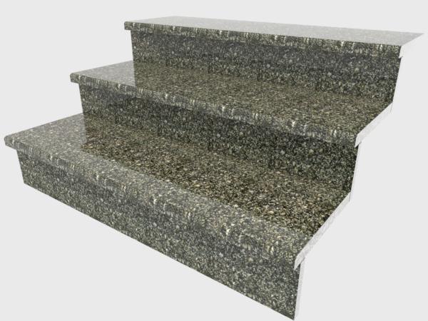Ступени гранитные полированные  Старобабанинские     1000×250×30