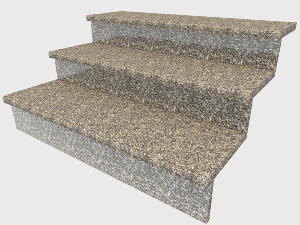 Ступени гранитные  термообработанные  Софиевские  1000×300×30