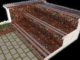 Ступени гранитные Капустинские с термополосой 1000×250×30