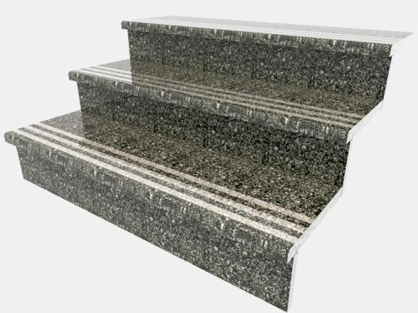 Ступени гранитные  Старобабанинские с термополосой 1000×250×30