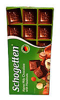 Schogetten Alpine Milk Chocolate with Hazelnuts, молочный шоколад с фундуком, 100 г