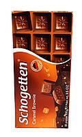Schogetten Caramel Brownie, молочный шоколад с карамелью, 100 г