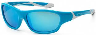 Детские солнцезащитные очки Koolsun серии Sport (Размер: 6+) Детские солнцезащитные очки Koolsun бирюзово-белые серии Sport (Размер: 6+)