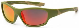 Детские солнцезащитные очки Koolsun серии Sport (Размер: 6+) Детские солнцезащитные очки Koolsun цвета хаки серии Sport (Размер: 6+)