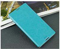 Кожаный чехол книжка MOFI для Sony Xperia C3 D2502 бирюзовый, фото 1