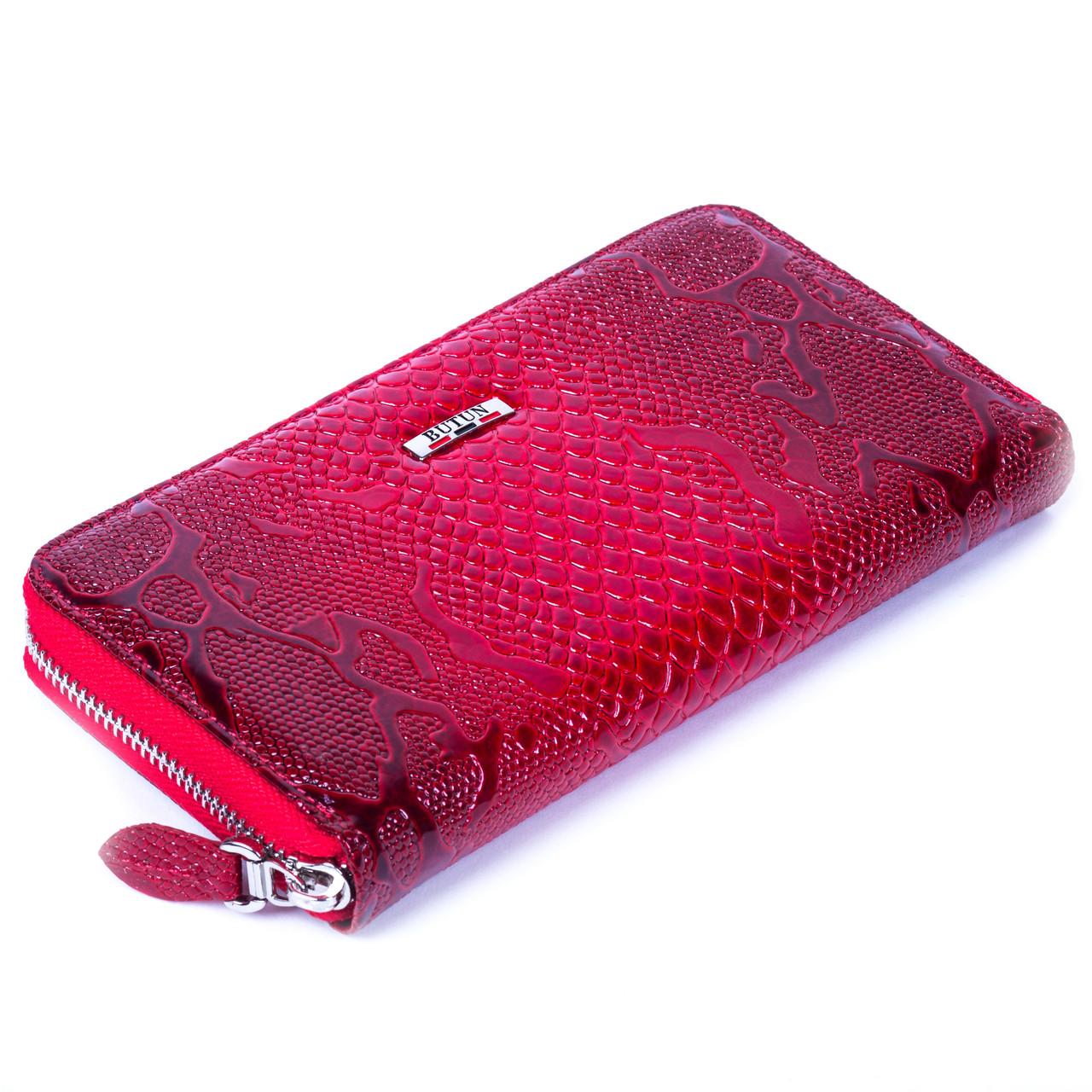 Женский кошелек Butun 639-008-006 кожаный красный