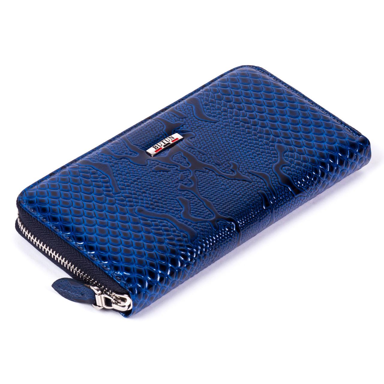 Женский кошелек Butun 639-008-034 кожаный синий