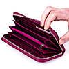 Женский кошелек Butun 639-004-005 кожаный марсала , фото 4