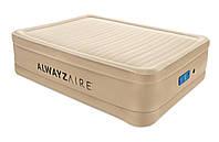 Надувная кровать Bestway 69037 Alwayzaire Fortech 203х152х51 см, встроенный электронасос с автоподкачкой