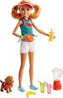"""Ігровий набір Barbie сестричка Стейсі """"Смачні розваги"""" Stacie with Juice & Puppy"""