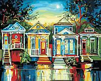 Картины по номерам пейзаж Цветные домики (40 х 50 см, в коробке), ArtStory (AS0372)