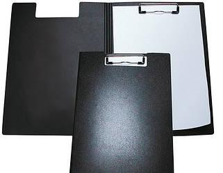 Папка-планшет А4 Economix с прижимом, пластик, черная E30153-01