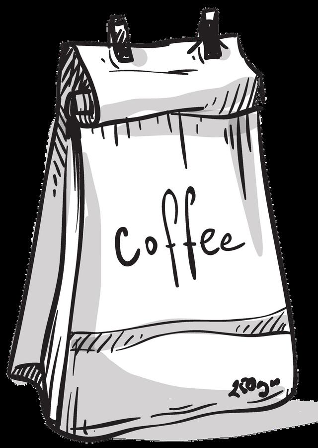 упаковка свежеобжаренного кофе в пакет с дегазирующим клапаном