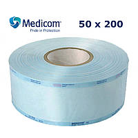 Рулон для стерилізації 50x200 комбінований напівпрозорий Медіком 50 мм х 200 м, (Medicom)