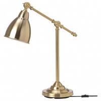 Настольная лампа IKEA Лампа настольная, цвет латуни BAROMETER (003.580.37)