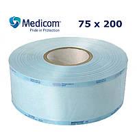 Рулон для стерилізації 75x200 комбінований напівпрозорий Медіком, 75 мм х 200 м (Medicom)