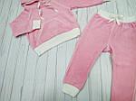Детский велюровый спортивный костюм Розовый , фото 2
