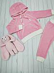 Детский велюровый спортивный костюм Розовый , фото 3