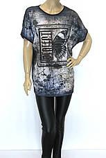 Женская футболка больших размеров с принтом, фото 3