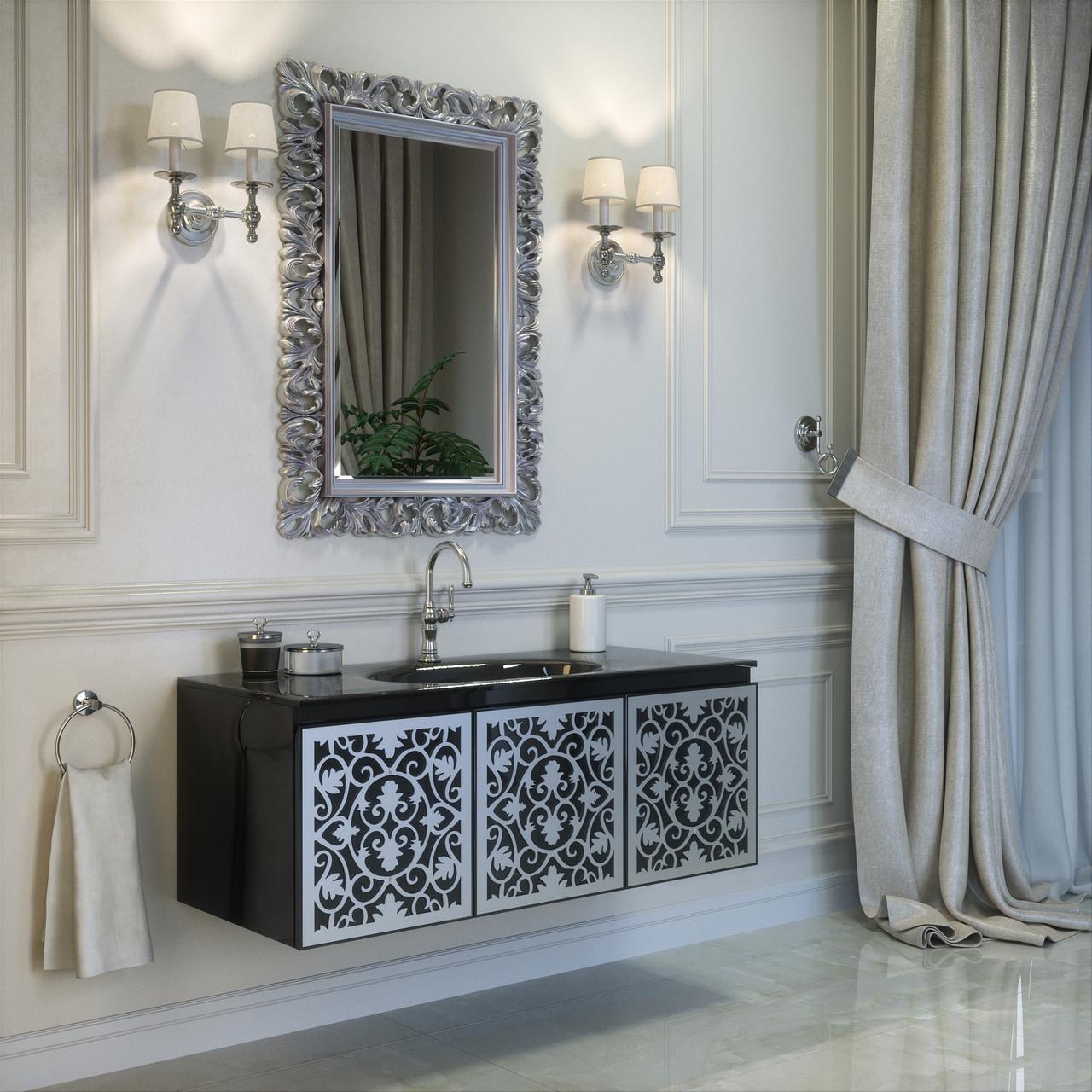 Тумба для ванной комнаты Marsan Vincent  1200 черная