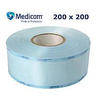 Рулон для стерилізації 200x200 комбінований напівпрозорий Медіком, 200 мм х 200 м (Medicom)