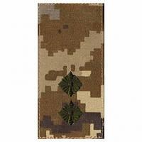 Погон ЗСУ молодший лейтенант нового зразка сіті з липучкою (темна вишивка)