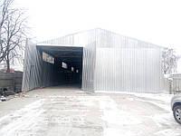 Строительство ангара, будівництво ангару