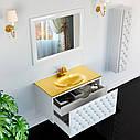 Тумба для ванной комнаты Marsan Virginie 1000 белая, фото 2