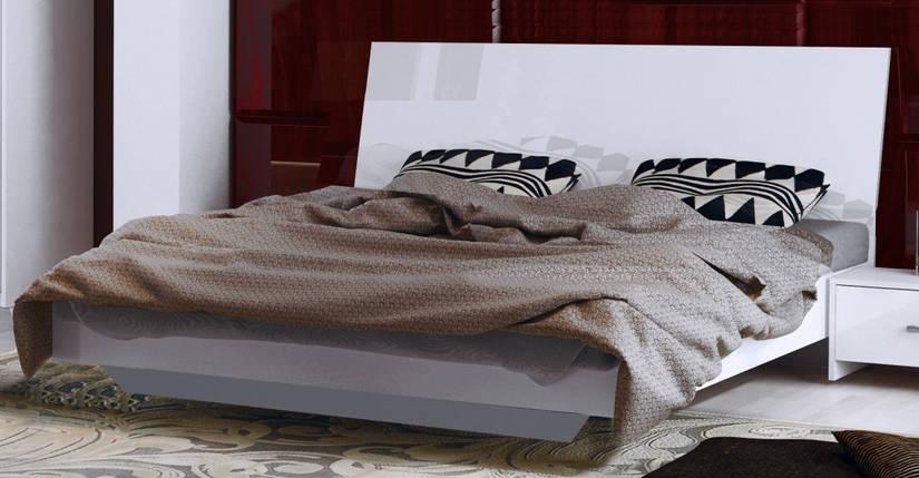 Кровать Рома 180*200 c каркасoм и подъемным механизмом  глянец белый ТМ Миро Марк, фото 2