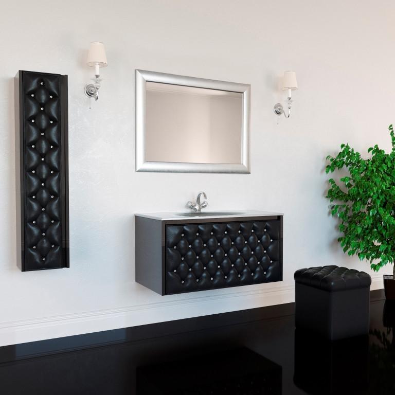 Тумба для ванной комнаты Marsan Virginie 1000 черная