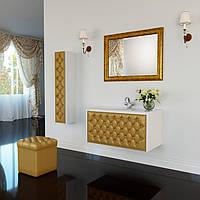 Тумба для ванной комнаты Marsan Virginie 1000 белая камни Swarovski