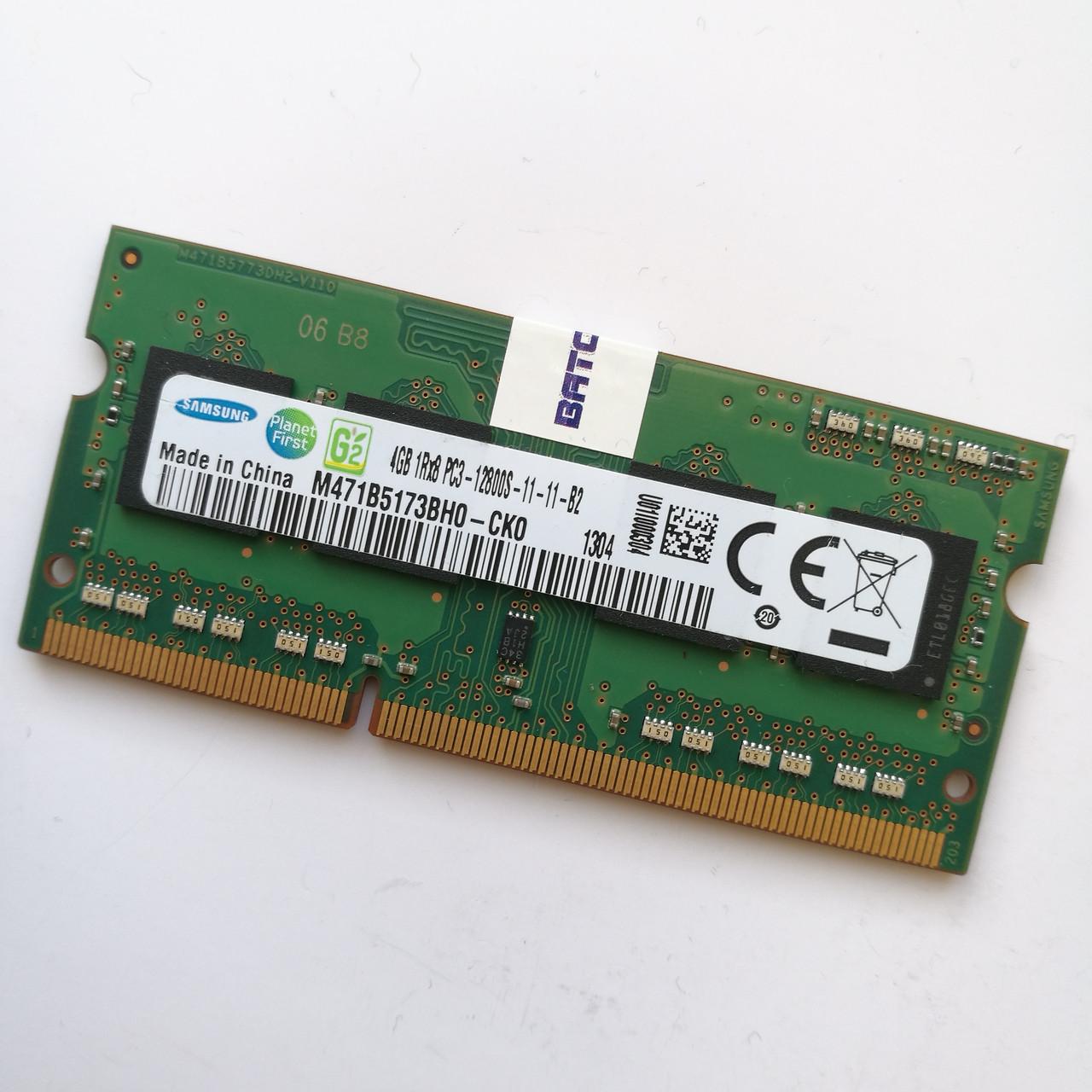 Оперативная память для ноутбука Samsung SODIMM DDR3 4Gb 1600MHz 12800s CL11 (M471B5173BH0-CK0) Б/У