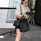 Трендовая женская сумка JingPin 4 в 1 цвет Чёрный (сумка + клатч + кошелёк косметичка + визитница) 01062, фото 2