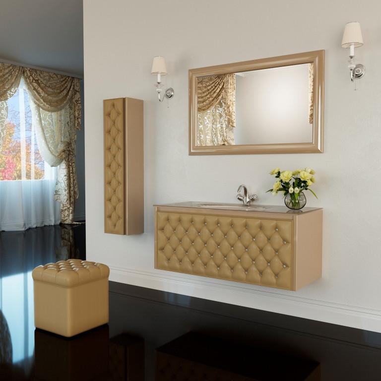 Тумба для ванной комнаты Marsan Virginie 1200 капучино