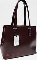 Вишневая женская сумка на два отдела, фото 1