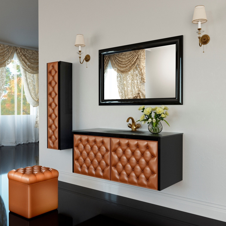 Тумба для ванной комнаты Marsan Virginie 2 1200 в цвете камни Swarovski