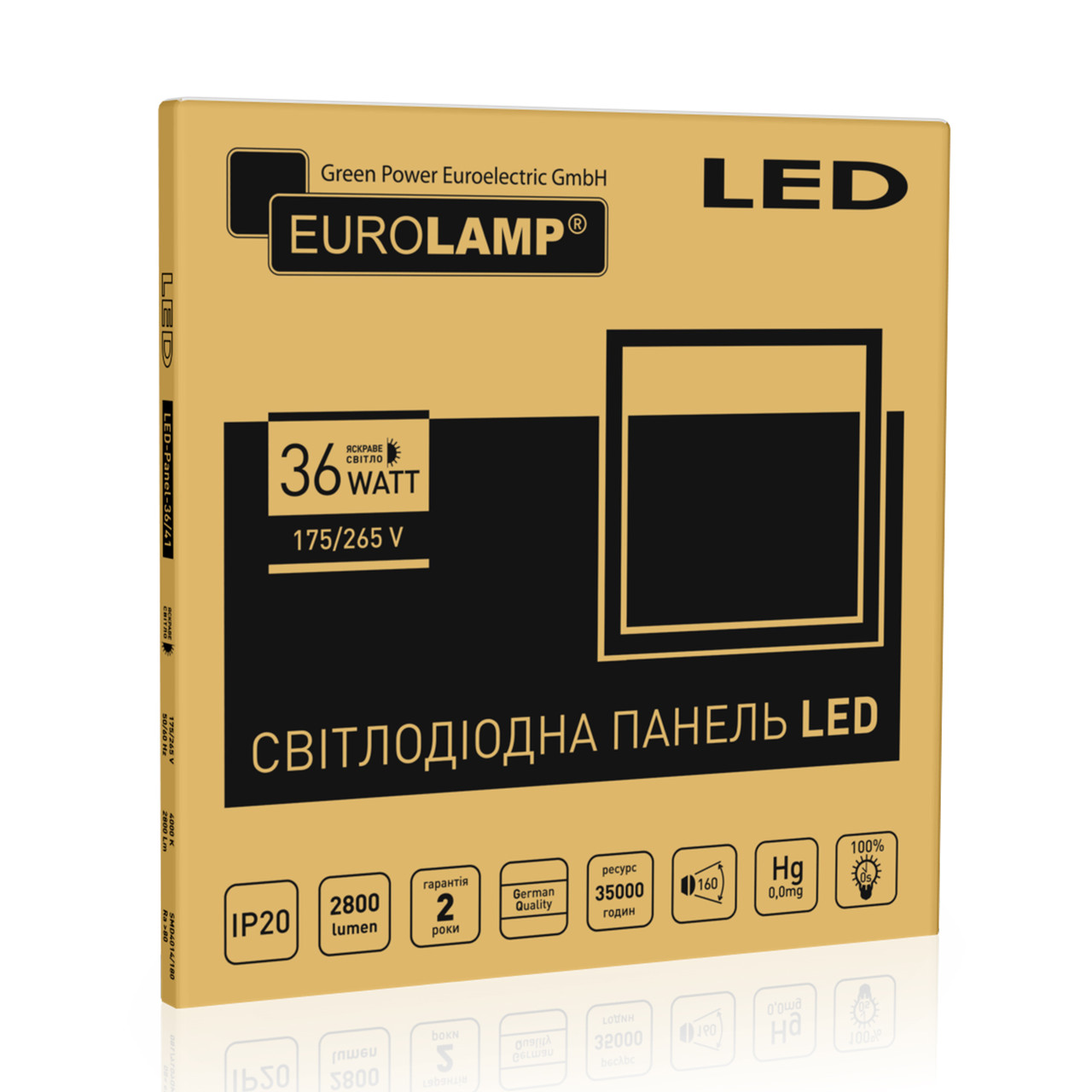 EUROLAMP LED Панель 60х60 36W 4100К