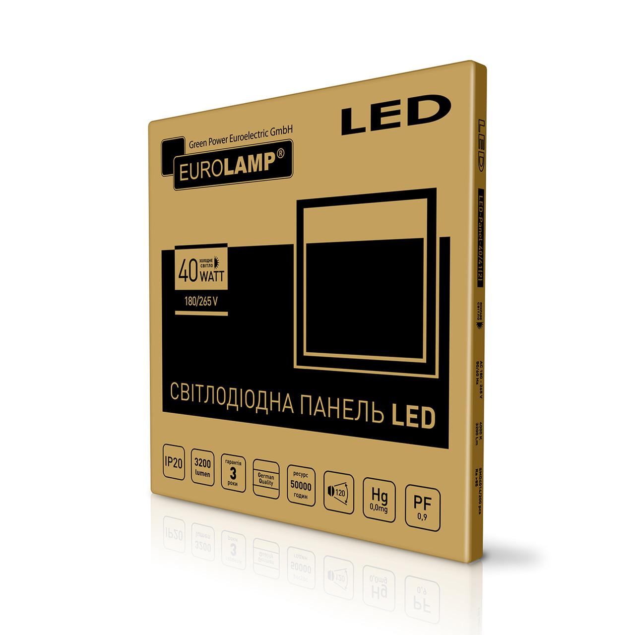 EUROLAMP LED Панель 60х60 белая рамка 40W 5500K