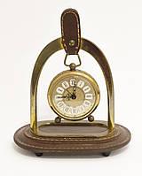 Старые часы в бронзовом корпусе, будильник на подставке, бронза, латунь, Германия, фото 1