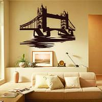 Інтер'єрна наклейка Тауерський міст наклейка (пам'ятки англійські мости Тауер) матова, фото 1