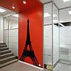 Интерьерная наклейка Эйфелева башня 2 на стену (самоклеющаяся пленка Париж) матовая 653х1000 мм