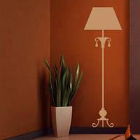 Торшер Декоративная виниловая наклейка на обои (интерьерные наклейки предметы, светильник, лампа)