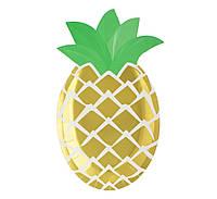 Тарелка праздничная Золотистый ананас