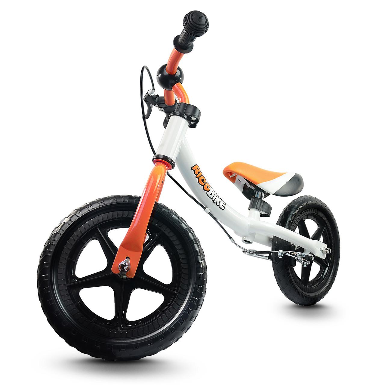 Беговел Ricobike RC-303 з ручним гальмом біло-помаранчевий